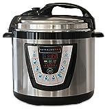 10-in-1 PressurePro 6 Qt Pressure Cooker - Multi-Use Programmable Pressure Cooker, Slow Cooker, Rice Cooker, Steamer, Sauté and Warmer - Black