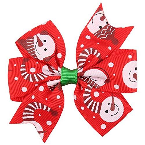 Luoluoluo Kersthaarspelden voor meisjes, decoratie voor kerstfeest, meisjes, haarsieraden, bowknot, haarspelden hoofdband kinderen kerstkostuum