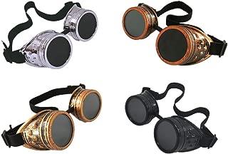 4pcs Retro Goggles Glasses Welding Cosplay
