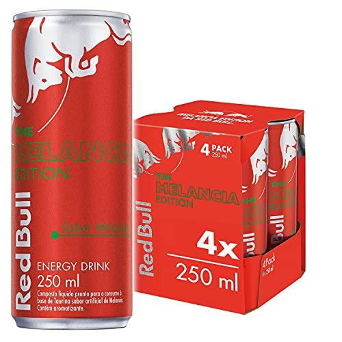 Energético Red Bull Energy Drink, Summer Edition - Melancia, 250 ml (4 latas)