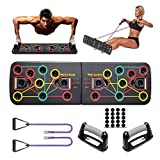 HAYAYO 13 in 1 Push Up Rack Board Set, Portable Press Up Board with Resistance Bands, Multifunction <span class='highlight'>Strength</span> <span class='highlight'>Training</span> Muscle Board Gym Exercise <span class='highlight'>Equipment</span> for Men Women <span class='highlight'>Home</span> Workouts