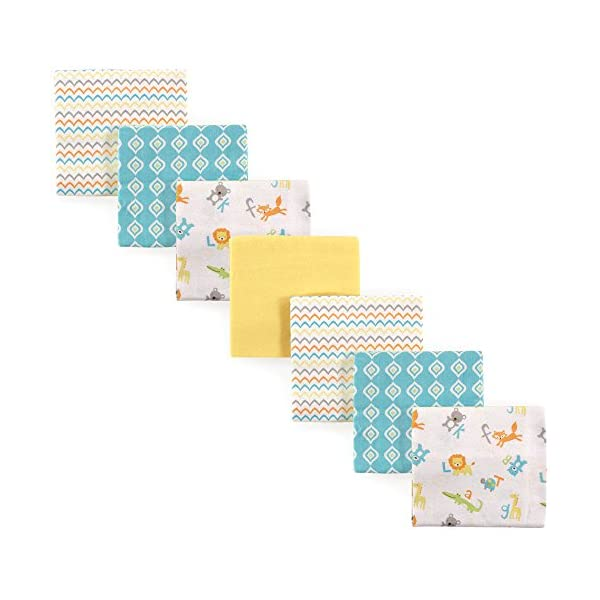 Luvable Friends Unisex Baby Flannel Receiving Blankets