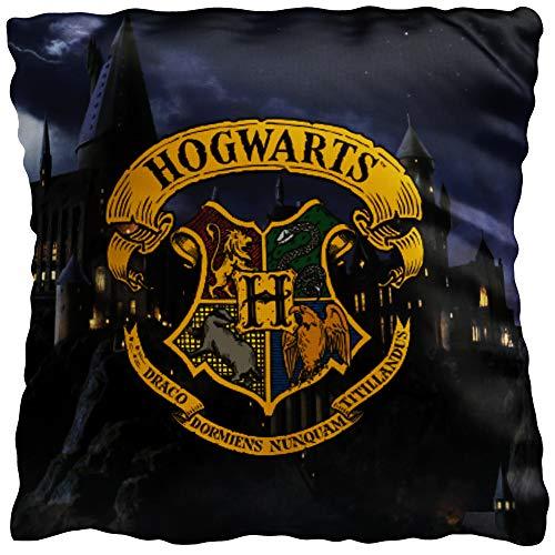 Harry Potter Kissen Hogwarts 40 x 40 cm Gryffindor Hufflepuff Ravenclaw Slytherin Ron Hermine Kopfkissen Dekokissen Reisekissen Schmusekissen Zierkissen Kuschelkissen Polster passend zur Bettwäsche