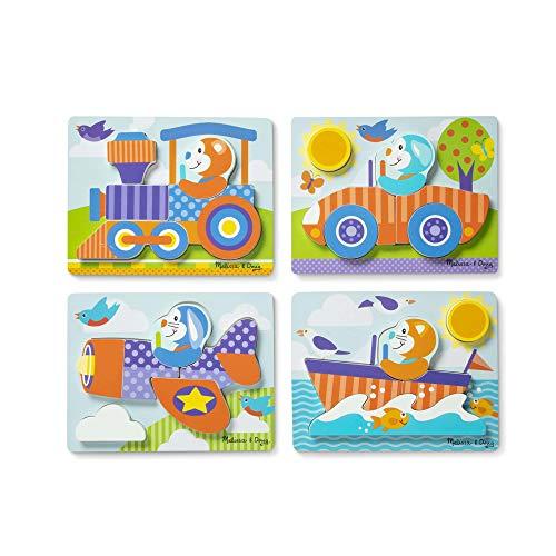 Melissa & Doug Jigsaw Puzzle Set – Vehicles
