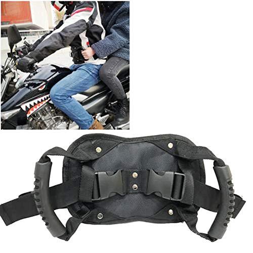 Knowledgi - Cinturón de seguridad para moto, con empuñadura para llevar como cinturón de riñón para ATV, Superbike, Motobike y bicicleta