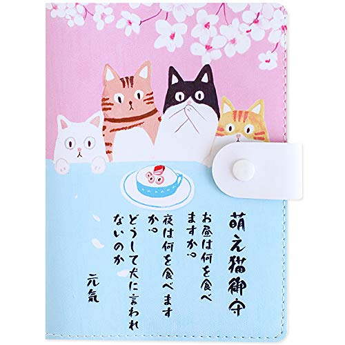 かわいい桜猫 メモ帳 ノート 手作り手帳 日記帳 女性用 システム手帳 A6システム手帳