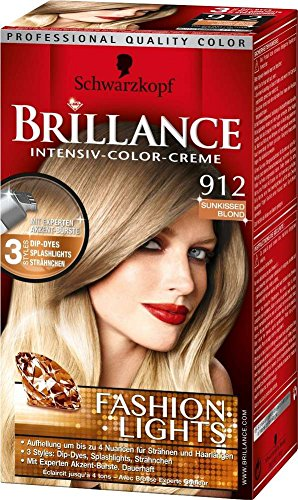 Schwarzkopf Brillance Intensiv Color Creme 912 Sunkissed Blond Fashion Lights
