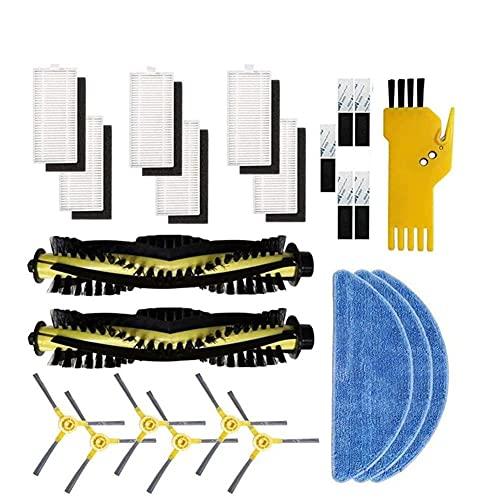 LZHI litao Cepillo Principal Robot Side Brush Filter MOP Kit de Tela for IKOHS NETBOT S15 Accesorios de aspiradora de Smartgo Filtros de reemplazo 3
