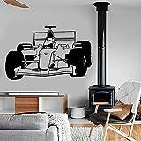 WERWN Super Kart calcomanía de Pared Kart Formula Speed Racing Cool Boy Dormitorio Sala de Juegos Interior decoración del hogar Vinilo Adhesivo para Pared