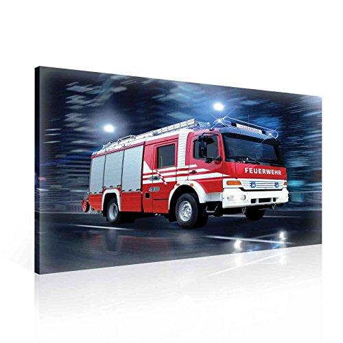 Wallsticker Warehouse Feuerwehr Auto Leinwand Bilder (PP1499O1FW) Size O1-100cm x 75cm - 230g/m2 Canvas - 1 Piece