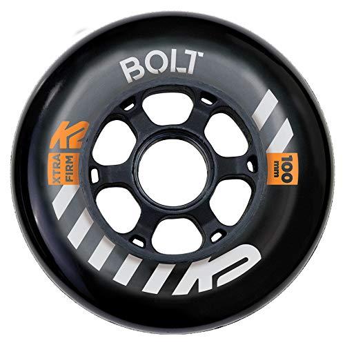 K2 Skates Unisex– Erwachsene Rollen URBAN Bolt 100 MM 90A 2-Wheel Pack — Black — 100mm — 30F3015