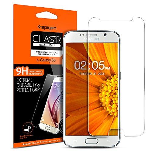 Spigen Vetro Temperato Samsung Galaxy S6, proteggischermo Trasparente, Pellicola Samsung Galaxy S6, Protezione per Schermo (524GL20749)