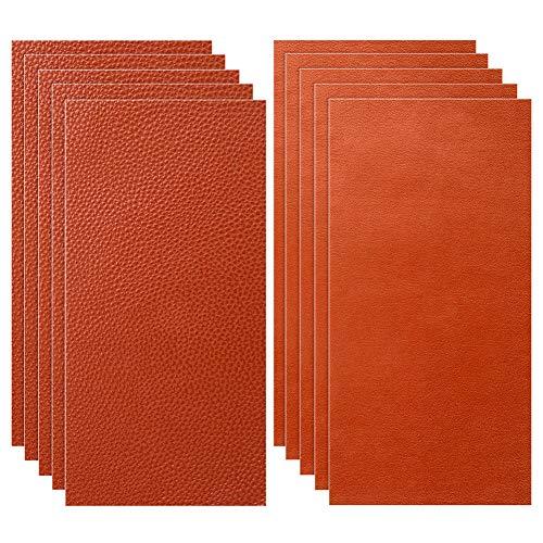Siyaqi Kit de Parche de Piel, 10 Unidades Pegatina de reparación de Parches de 20 cm x 10 cm, despegar y Pegar para Asiento de Coche, Muebles, Chaqueta, sofá, Mochila (Naranja)
