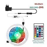 YSNMM 5 M 10 M 15 M WiFi-Led-Lichtleiste RGB-Diodenband SMD 5050 2835 Dc12V-Band Smart App Operated Works Alexa Google Home