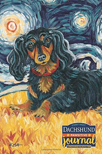 Dachshund Pawsitive Journal (Longhaired Black & Tan): Lined Gratitude Journal for Dog Lovers