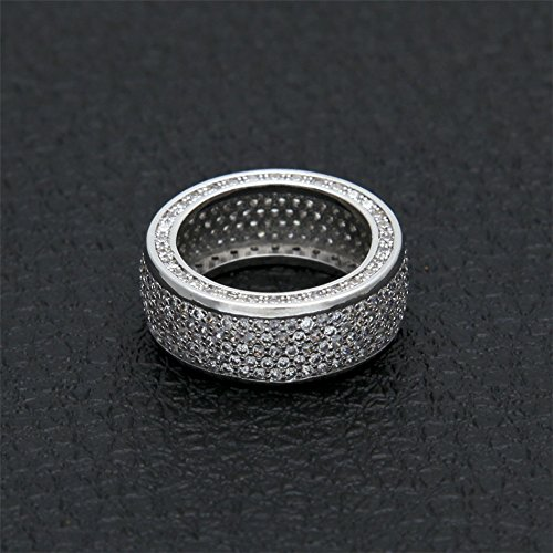 RENYZ.ZKHN Zirkoon Ring, Hip-Hop, Zirkoon, Zirkoon, Ring, En Ring, Heren Diamanten Ring Hiphop Ornamenten, Zirkoon Ringen, Micro Ring Ringen, Herendiamanten Ring