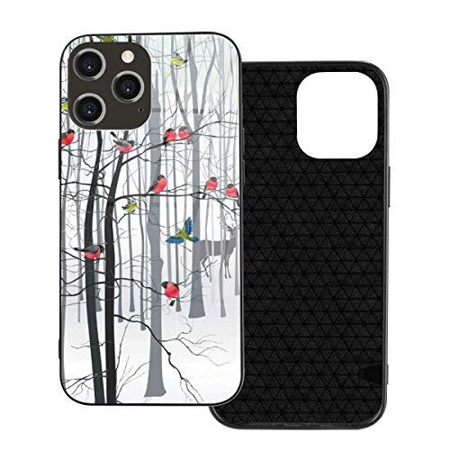 Funda para teléfono Birds 3D Funda para teléfono para iPhone 12/12 Mini / 12 Pro / 12 Pro MAX Carcasa Trasera de Vidrio Templado + TPU para iPhone 12mini MAX 5.4 Pulgadas