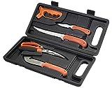 Ruko RUK0132 Fish & Game Processing Kit with Handle & Black Hard Nylon Case (6 Piece), Blaze Orange