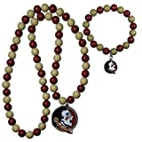 NCAA Siskiyou Sports Womens Florida State Seminoles Fan Bead Necklace and Bracelet Set One Size Team Color