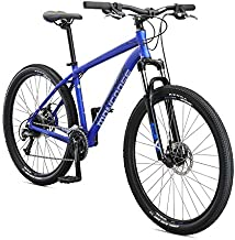 Mongoose Switchback Comp Adult Mountain Bike, 9 Speeds, 27.5-inch Wheels, Mens Aluminum Small Frame, Blue
