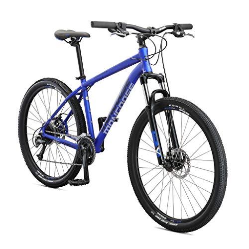 Mongoose Switchback Comp Adult Mountain Bike, 9 Speeds, 27.5-inch Wheels, Mens Aluminum Medium Frame, Blue