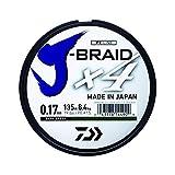 Daiwa J-trenza X4 Trenzado Sedal - Todas Las Tallas & Colores - Multicolor, 0.15mm 150m
