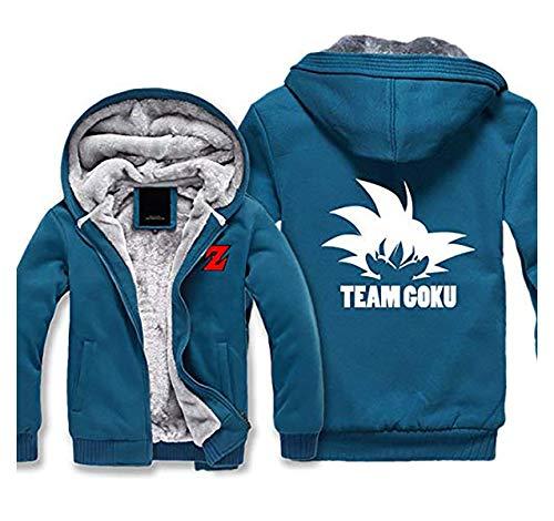 Preisvergleich Produktbild Mempire Herren Kapuzenpullover Sweatjacke mit Reißverschluss Son Goku Kakarotto Team Goku Gemusterte Sweatshirts (B, L)