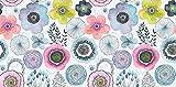 Printodecor   Alfombra vinílica Floral Colour Flower - Impresión fotográfica a Todo Color - Vinilo (PVC transitable) 2,8mm Espesor.