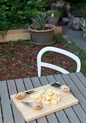 Kikkerland Mouse Cheese Knives