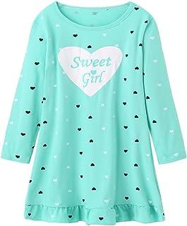 678567298b FREE Shipping on eligible orders. MyFav Big Girls Cotton Sleepwear hearts  Shape Cute Nightgown Pajamas Homewear