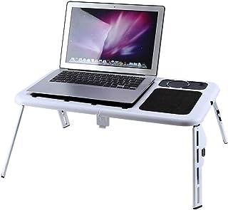 AYNEFY - Soporte ergonómico para Ordenador portátil, Ajustable, Plegable, con Ventilador de refrigeración y Placa de ratón