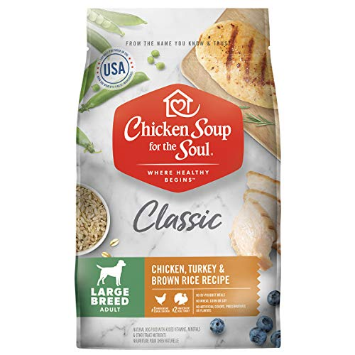 Chicken Soup for the Soul Pet Food - Large Breed Adult Dog FoodSoy Free, Corn Free, Wheat Free | Dry Dog Food Made with Real Ingredients No Artificial Flavors or Preservatives