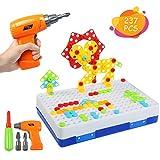 BelleStyle Puzzles 3D Montessori Juguetes 237PCS, Tablero de Mosaico Juguete...