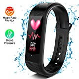 Heart Rate Monitor - Fitness Tracker w/ Sleep Monitor, Activity Tracker Watch w/ Calories Counter, Smart Fitness Band w/ Step Counter, IP67 Waterproof Pedometer Watch for Women, Men, Kids