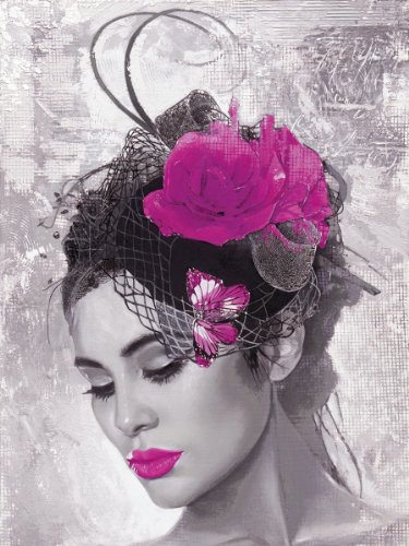 Eurographics H-K-HOP1014 Lady Butterfly - Cuadro Decorativo (60 x 80 cm), diseño de señora con Tocado