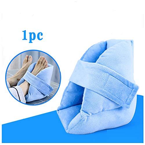 Fersenkissenschutz, Fuß- und Knöchelkissen, Patientenpflegepolster für Wunden im Bett bei Druckschmerzen und Schmerzlinderung bei Fersengeschwüren,1pc