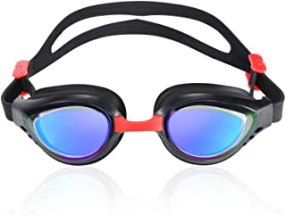 CTSC Anti Fog Swim Goggles - Adult Swimming Goggles for Men & Women - Leak Proof Sea Googles for Kids - Panoramic View wit...