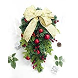 XINGPENGME Weihnachtsdekorationen 2 PCS Weihnachten Creative Bow Pine Cone Rot Obst Rattan-Dekoration (A Section) (Color : C Section)