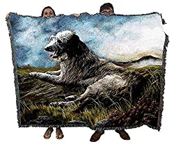 large scottish deerhound throw blanket