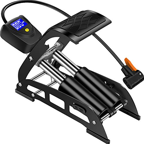 XMSIA Bomba Pedal Durable Bomba de Alta presión Mini Portátil Bicicleta Pedal Eléctrico Pedal Pedal Neumático de Bicicleta (Color : Black, Size : 29x8.5cm)