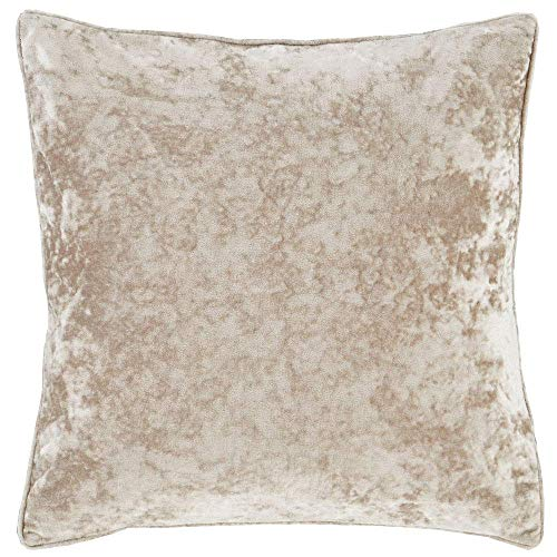 Catherine Lansfield Cushion Cover, Velvet, Natural Cream, 55 x 55cm (22' x 22')