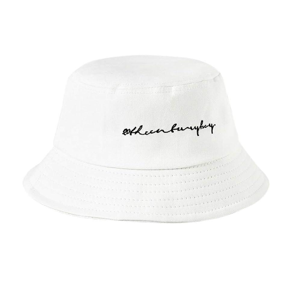 繁栄怪しい着るManyao 22色女性女の子面白い刺繍手紙広いつばバケツ帽子夏カジュアル原宿ヒップホップ学生スポーツ漁師キャップ