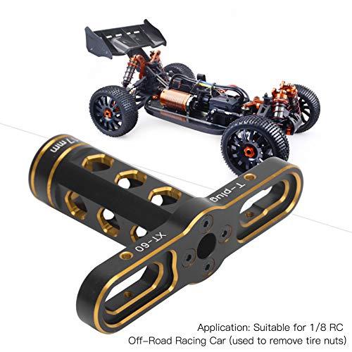 Alomejor RC Sechskantmutter Hülse 17mm Sechskantmuttern Montagewerkzeuge T Hülse für 1/8 RC Offroad Rennwagen(Gold)