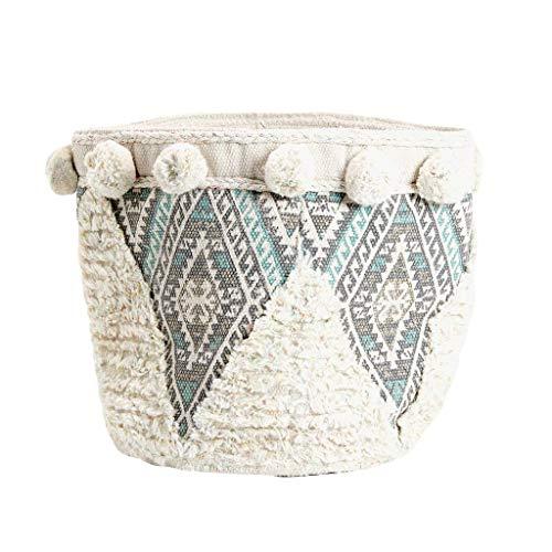 YONGYONGCHONG Pompom ronde mand voor het opslaan van vuile kleding en puin doek frame