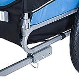 PawHut® Hundeanhänger Fahrradanhänger Hunde Fahrrad Anhänger Blau/Schwarz NEU - 8