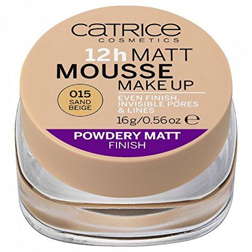 Catrice - Foundation - 12h Matt Mousse Make Up 015 - Sand Beige