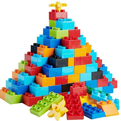 WYSWYG Set di 240 mattoncini Grandi per Bambini, compatibili con Tutte Le Grandi Marche Duplo, Giocattoli STEM dai 3 ai 4 ai 5 Anni, Giocattolo educativo Creativo Regalo per Ragazzi e Ragazze