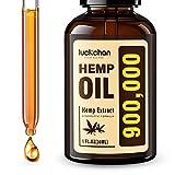 Hemp Oil Extract - 900,000MG High Potency - Organically Grown in USA - 100% Natural, Vegan, Non-GMO