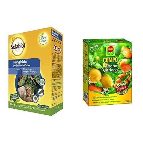 Solabiol Fungicida/bactericida de Cobre 100% orgánico (50% Oxicloruro de Cobre) + Compo 750 g Abono para...
