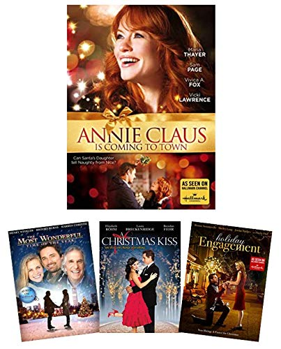 Annie Claus is Coming to Town + 3 Bonus Hallmark Channel Movies - The Most Wonderful Time of the Year / A Christmas Kiss / Holiday Engagement [4-Film Holiday/Christmas Romance DVD Set]